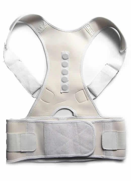 Corretor Postura Magnético Unissex Branco