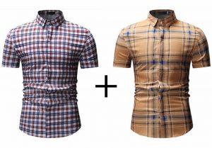 Kit 2 Camisas Xadrez