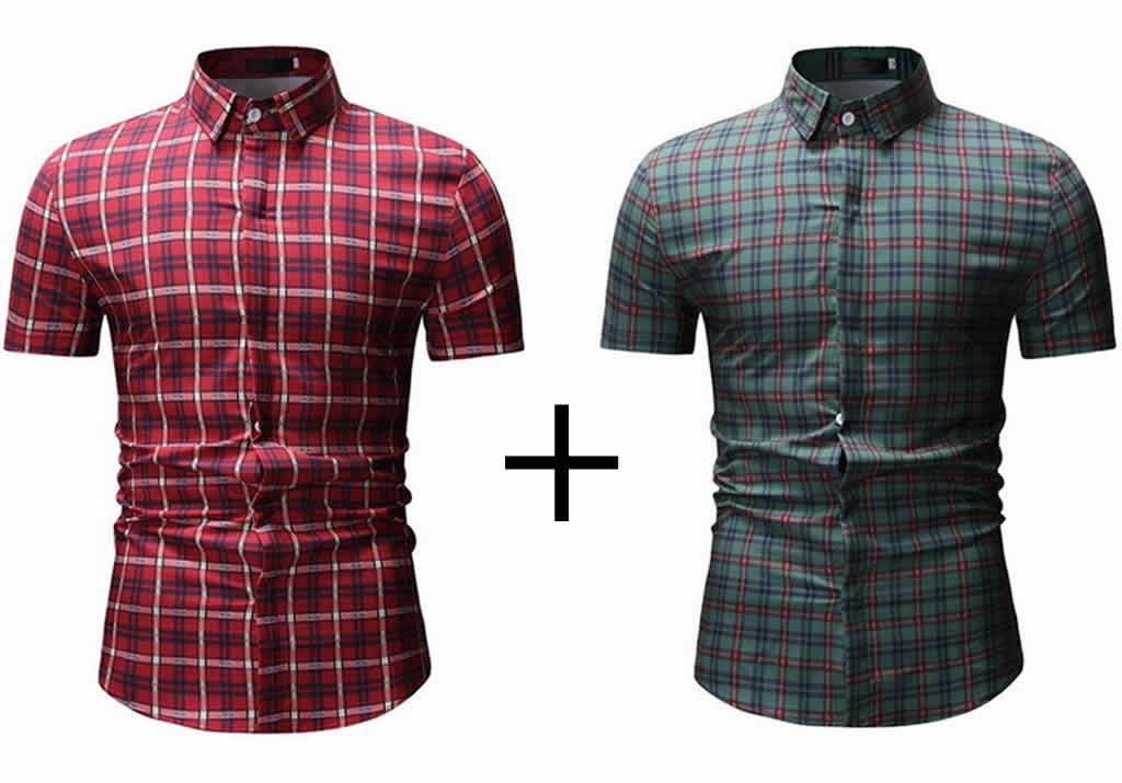 Kit 2 Camisas Xadrez Lsitradas