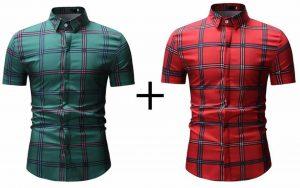 Kit 2 Camisas xadrez Slim Fit