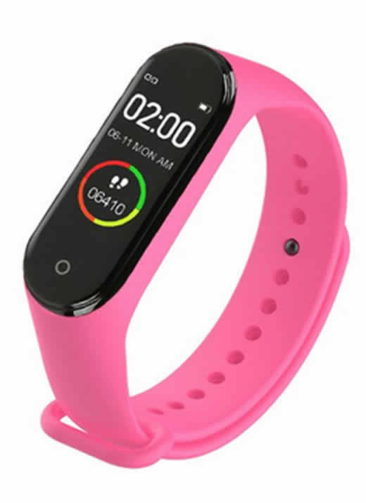 Relógio Inteligente Mi Band 4 Smartwatch Fitness Rosa