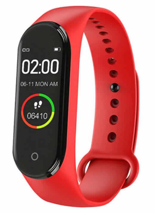 Relógio Inteligente Mi Band 4 Smartwatch Fitness Vermelho