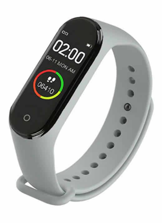 Relógio Inteligente Mi Band 4 Smartwatch Fitness Cinza