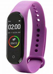 Relógio Inteligente Mi Band 4 Smartwatch Fitness Roxo