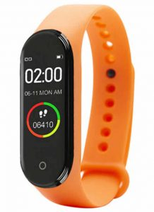 Relógio Inteligente Mi Band 4 Smartwatch Fitness Laranja