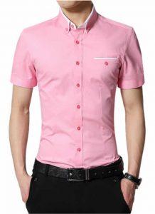 Camisas Slim Fit Rosa Importada