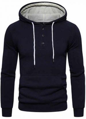 Blusa de Moletom Vibe Basic - Azul Escuro
