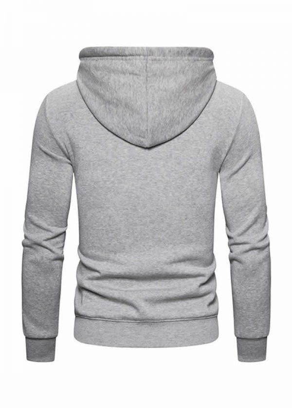 Blusa de Moletom Vibe Basic - Cinza