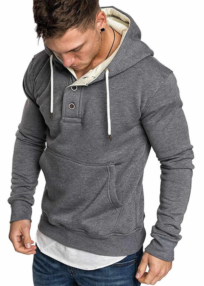 Blusa de Moletom Vibe Basic - Cinza Escuro