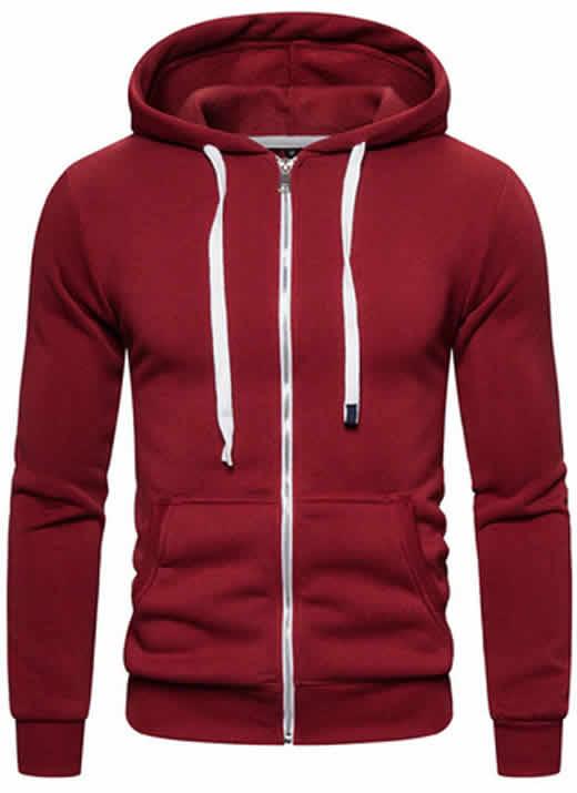 Blusa Moleton Ralf Vermelha com Ziper
