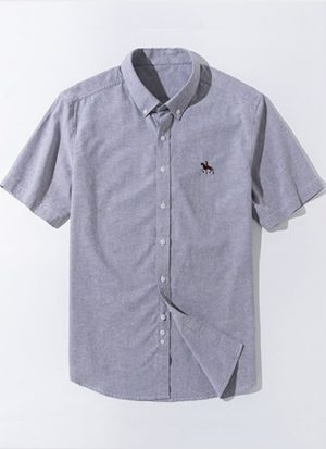 Camisa Algodão Oxford - Cinza
