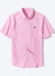 Camisa Algodão Oxford Sinwoyan - Rosa