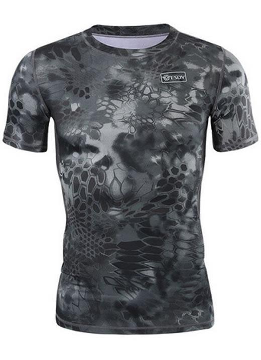 Camisa Estilo Tático Militar Cinza