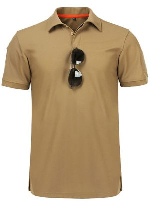 Camisa Polo Militar, Camisa Militar, Camisas Militares, Camisas Masculinas Militar Bege Marrom