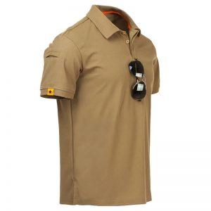 Camisa Polo Militar, Camisa Militar, Camisas Militares, Camisas Masculinas Militar Bege Marrom
