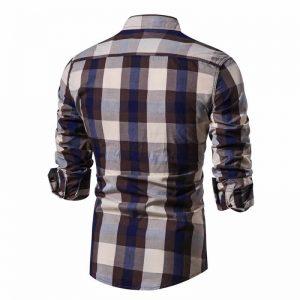Camisa Xadrez Marrom Masculina