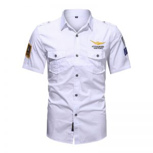 Camisas Masculinas Militar, Camisetas Tipo Militar, Branca, Camisas Militares