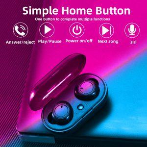 Fone de Ouvido Sem Fio Alta Fidelidade Bluetooth 5.0 Smartphone