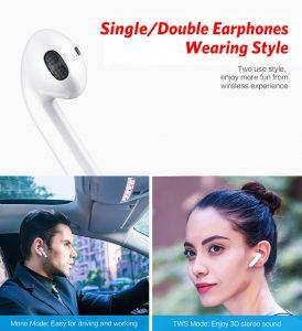 Fone de Ouvido Sem Fio Bluetooth 5.0 Celular