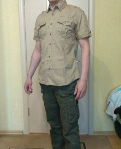 Camisa Marshall Casual Estilo Militar Manga Curta photo review