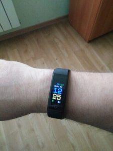 Relógio Inteligente Leecnuo 115 Rastreador De Fitness Freqüência Cardíaca photo review