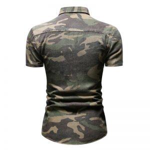 Camisas Militar Tipo Estilo Camisas Masculina Camufalgem, Camuflage Camuflada Verde Jeans Manga Curta