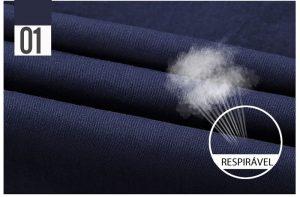 Camisa Militar Tipo Estilo Masculina Manga Curta Reserva Azul