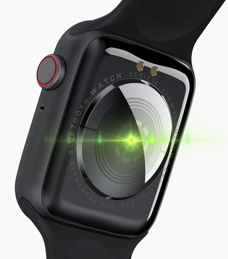 Smartwatch 2020 2021 Relógio Smartwatch Eletrônico Iwo W26 - Tela Infinita - 44mm
