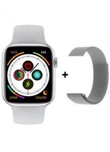 Relógio Smartwatch Eletrônico Iwo W26 + Pulseira Metal