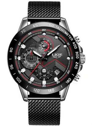 relógio lige 1853, relógio lige 2019, relógio lige 2020, relógio lige 2021, relógio lige automático, relógio lige é bom, relógio lige origem, relógio lige original, relógio lige pulseira de couro, Pulseira em Aço