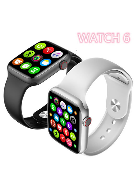 W16 Smartwatch W16 Bluetooth W16 44mm Series 6 1.75 Polegadas Tela Touch Frontal Monitor De Frequência Cardíaca