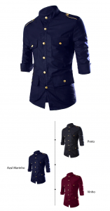 camisa camuflada masculina, camisa estilo americana, camisa militar preta, camisa social estilo militar, camisa social militar, camisas tipo militar, camisetas militares americanas, camisetas militares personalizadas, Camisa Militar Koreano