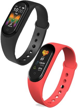 Kit 2 Relógios M5 Bluetooth Fitness Smartwatch Pague 1 Leve 2.
